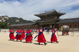 Marching Band in Bright Traditional Dress  South Korea