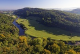 Autumn View North over Wye Valley from Symonds Yat Rock  Forest of Dean  Herefordshire  England