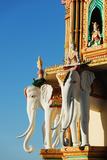 Elephant Detail  Wat Tham Sua Temple  Kanchanaburi  Thailand  Southeast Asia  Asia