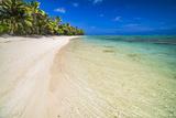 Beach at Titikaveka  Rarotonga  Cook Islands  South Pacific Ocean  Pacific
