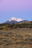 Dawn over the Gallatin Range and Swan Lake Flats  Yellowstone National Park  Wyoming  USA