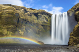 Skogafoss Waterfall and Rainbow  South Iceland  Iceland  Polar Regions