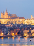 St Vitus Cathedral and Charles Bridge  UNESCO World Heritage Site  Prague  Czech Republic  Europe