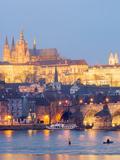 St Vitus Cathedral and Charles Bridge  UNESCO World Heritage Site  Prague  Czech Republic  Europe