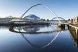 Day View of Gateshead Millennium Bridge  River Tyne  Newcastle Upon Tyne  Tyne and Wear  England