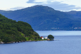 Small Houses on Storfjord (Storfjorden)  Norway  Scandinavia  Europe