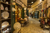 Entrance to Gold Souq  from Alleyway of Souq Waqif  Doha  Qatar  Middle East