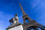 Horse Sculpture on Lena Bridge Near to Eiffel Tower in Paris  France  Europe