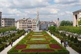 Mont Des Arts Garden  Brussels  Belgium  Europe