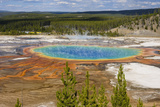 Grand Prismatic Spring  Midway Geyser Basin  Yellowstone National Park  Wyoming  USA