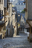Cobbled Street  Rue Du Jerzual  Dinan  Cotes D'Armor  Brittany  France  Europe