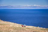 Quechua Women on Amantani Island (Isla Amantani)  Lake Titicaca  Peru  South America