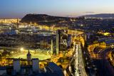 Elevated Dusk View over Barcelona City Centre  Catalunya (Catalonia) (Cataluna)  Spain  Europe
