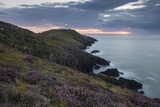 Strumble Head Lighthouse at Dusk  Pembrokeshire Coast National Park  Wales  United Kingdom  Europe