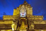 Wat Chedi Luang Worawihan Temple  Chiang Mai  Thailand  Southeast Asia  Asia