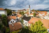 View over the City  UNESCO World Heritage Site  Cesky Krumlov  Czech Republic  Europe