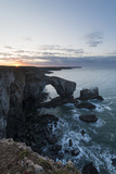 Dawn at Green Bridge of Wales  Pembrokeshire Coast National Park  Wales  United Kingdom  Europe