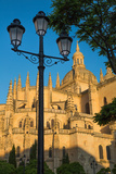 Plaza Mayor and the Imposing Gothic Cathedral of Segovia  Castilla Y Leon  Spain  Europe
