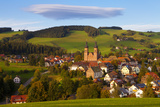 Overview of Saint Peter (Sankt Peter) at Sunset  Black Forest  Baden-Wurttemberg  Germany  Europe