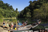 Tourists Sightseeing  Ratchaprapa Reservoir  Khao Sok National Park  Surat Thani Province  Thailand