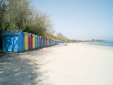 Beach Huts at Holkham Nature Reserve Near Wells-Next-The-Sea  Norfolk  England  United Kingdom