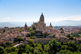 The Imposing Gothic Cathedral of Segovia Dominates the City  Segovia  Castilla Y Leon  Spain