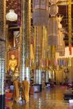 Monks at Wat Chedi Luang Worawihan Temple  Chiang Mai  Thailand  Southeast Asia  Asia