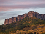Owl Creek Pass Palisade with Fall Color  Uncompahgre National Forest  Colorado  USA