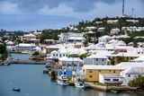 Overlook over the UNESCO World Heritage Site  the Historic Town of St George  Bermuda