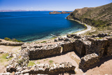 Palacio Del Inca at Chincana Ruins  Lake Titicaca  Bolivia