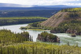 The Five Finger Rapids and the Yukon River  Yukon Territory  Canada  North America