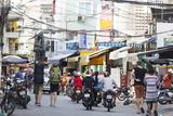 Backpackers on City Street  Ho Chi Minh City (Saigon)  Vietnam  Indochina  Southeast Asia  Asia