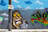 Graffiti Street Art in the Wynwood Art District of Miami  Florida  United States of America