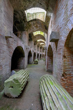The Underground of the Flavian Amphitheater  Pozzuoli  Naples