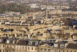 View over New Town Rooftops from Calton Hill  Edinburgh  City of Edinburgh  Scotland  UK