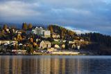 Autumn on the Lakeside in St Moritz  Engadine  Graubunden  Switzerland  Europe