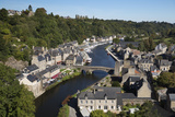 View over the Port and River Rance with the Pont Gothique  Dinan  Cotes D'Armor  Brittany  France