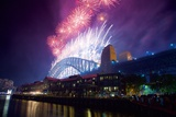 Sydney Harbour Bridge and New Years Eve Fireworks  Sydney  New South Wales  Australia  Oceania