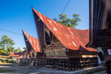 Traditional Batak House in Lake Toba  Sumatra  Indonesia  Southeast Asia