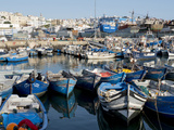 Fishing Boats in Port  Tangier  Morocco  North Africa  Africa