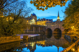Pulteney Bridge  Bath  UNESCO World Heritage Site  Avon  Somerset  England  United Kingdom  Europe