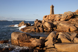 Lighthouse and Pink Rocks at Sunset  Cote De Granit Rose