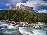 Los Cuernos Mountains and Rio Frances  Patagonia  Chile