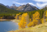 Wedge Pond in Autumn  Peter Lougheed Provincial Park  Alberta  Canada  North America