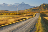 Country Road Through a Mountainous Landscape  Near Twin Butte  Alberta  Canada  North America