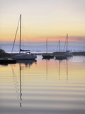 Yachts Moored on Lough Derg in the Early Morning  Republic of Ireland