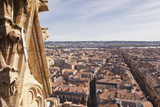 Looking Out over the City of Bordeaux from the Tour Pey-Berland  France