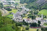 Circular Railway Viaduct  Brusio  Val Poschiavo  Graubunden  Switzerland  Europe