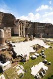 Remains of Forum of Augustus with the Temple of Mars Ultor  Rome  Latium  Italy  Europe
