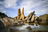 Granitic Boulders in Vinh Hy Bay  Nui Cha National Park  Ninh Thuan Province  Vietnam  Indochina